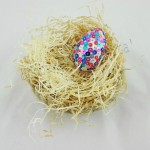 Uovo di Pasqua con paillettes