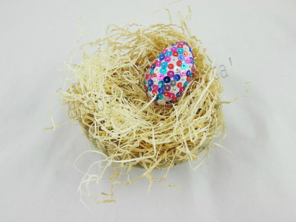 uovo di pasqua con paillettes 2
