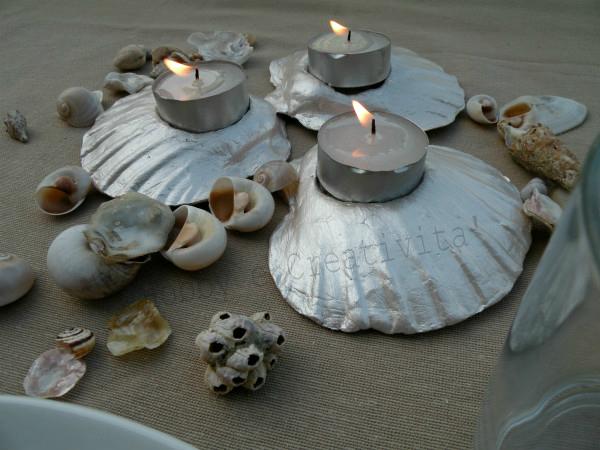 centro tavola di conchiglie