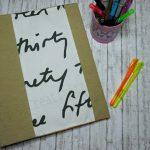 Copri quaderno in stoffa