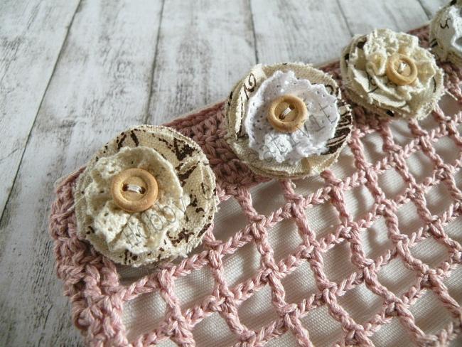 fiori di stoffa shabby