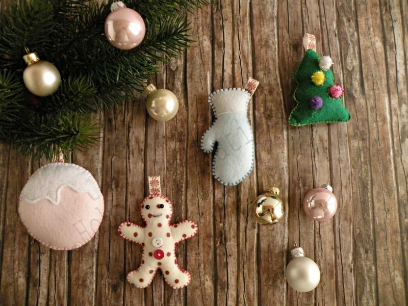 decorazioni natalizie di pannolenci