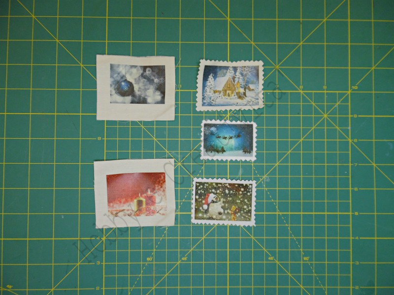 francobolli di stoffa