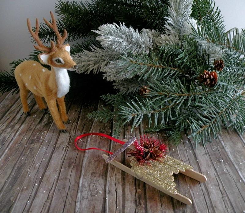 Slitta Di Babbo Natale Fai Da Te.Slitta Di Natale Progetto Con Bastoncini Hobby E Creativita