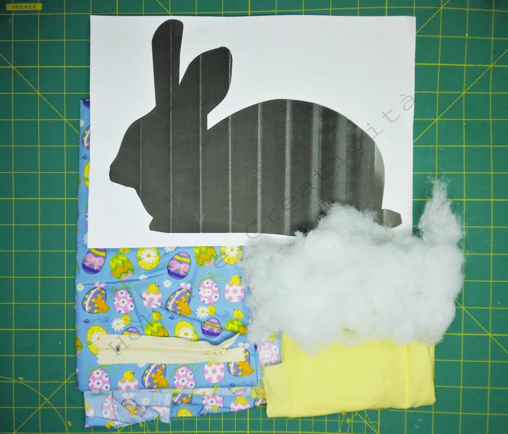 materiale coniglietto