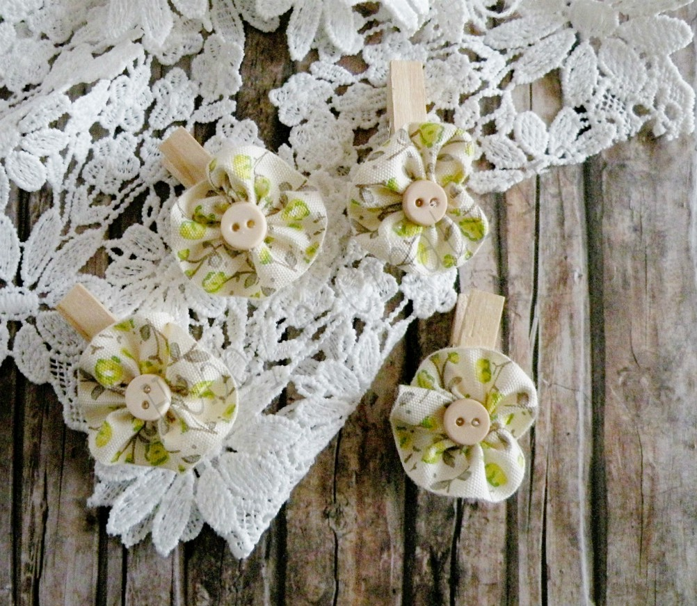 mollettine shabby con i fiori