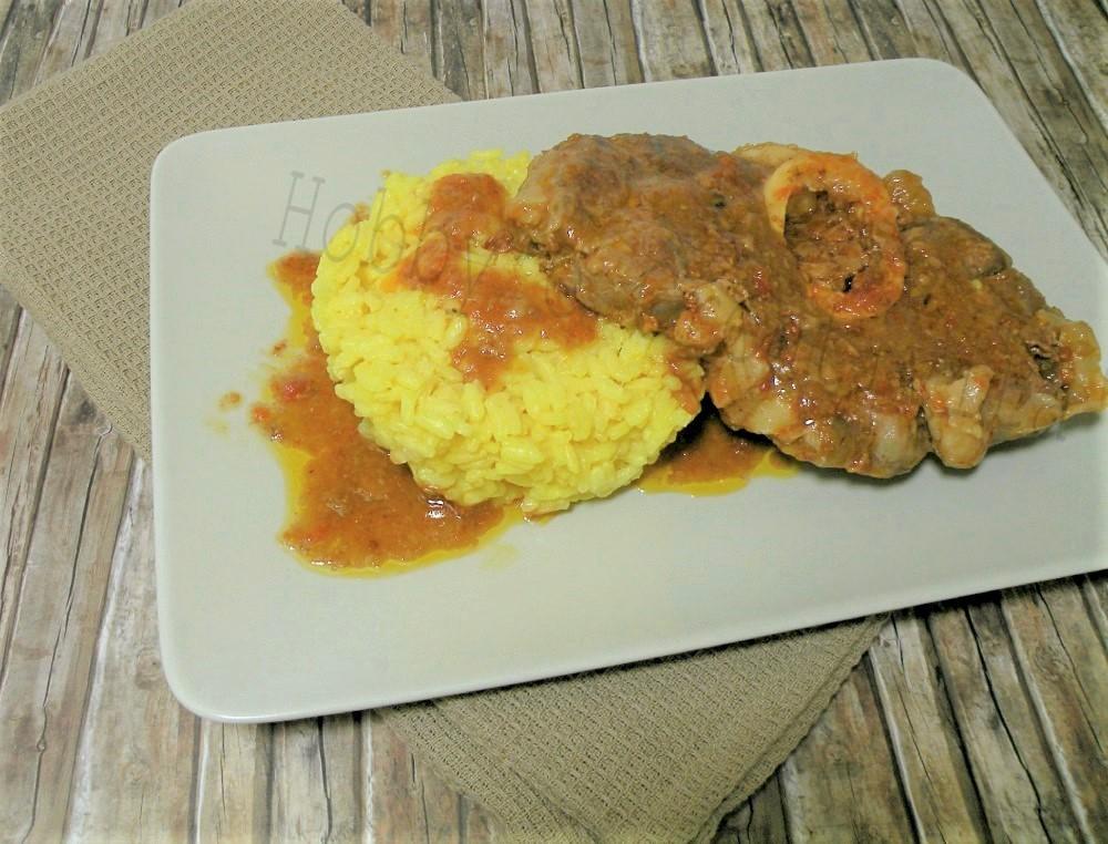 ossobuco con risotto giallo