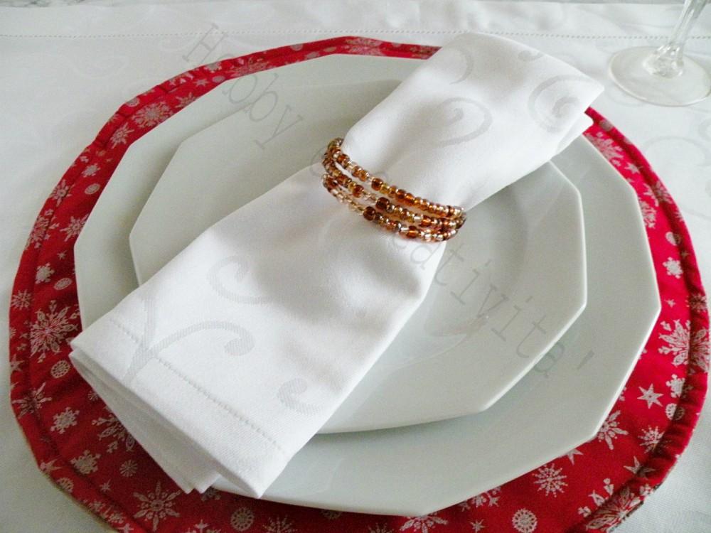 braccialetto porta tovaglioli per natale