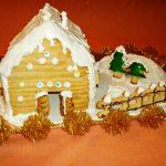Casetta di Natale di biscotto
