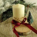 decorare le candele per natale