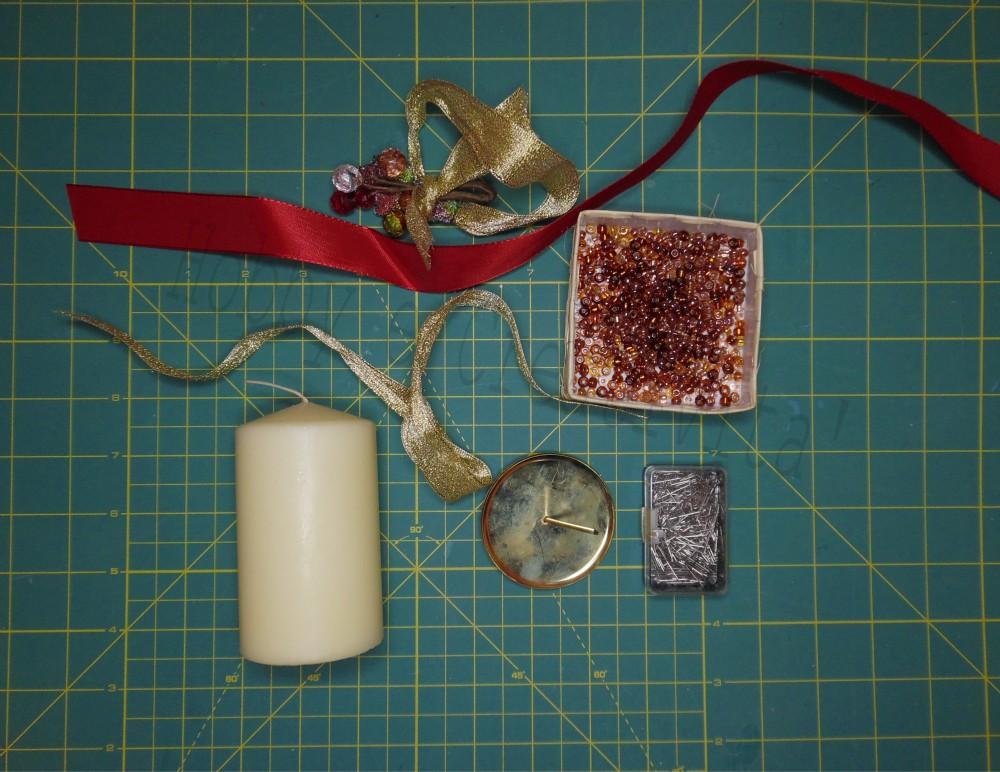 Decorare le candele per natale tutorial hobby e creativit for Decorare candele