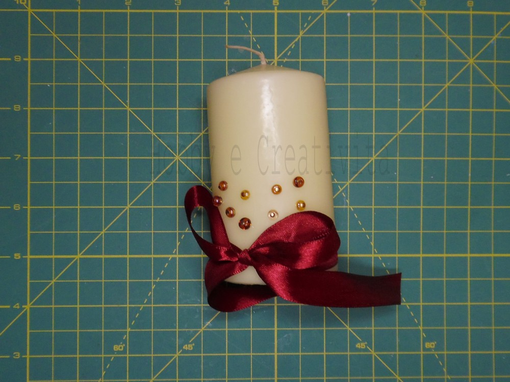 Decorare le candele per natale tutorial hobby e creativit - Decorare candele per natale ...