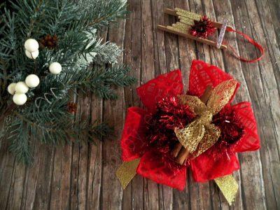 fiocco natalizio per decorare