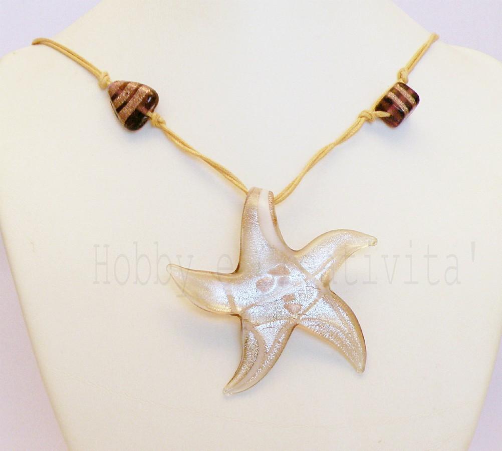 pendente stella in stile murano