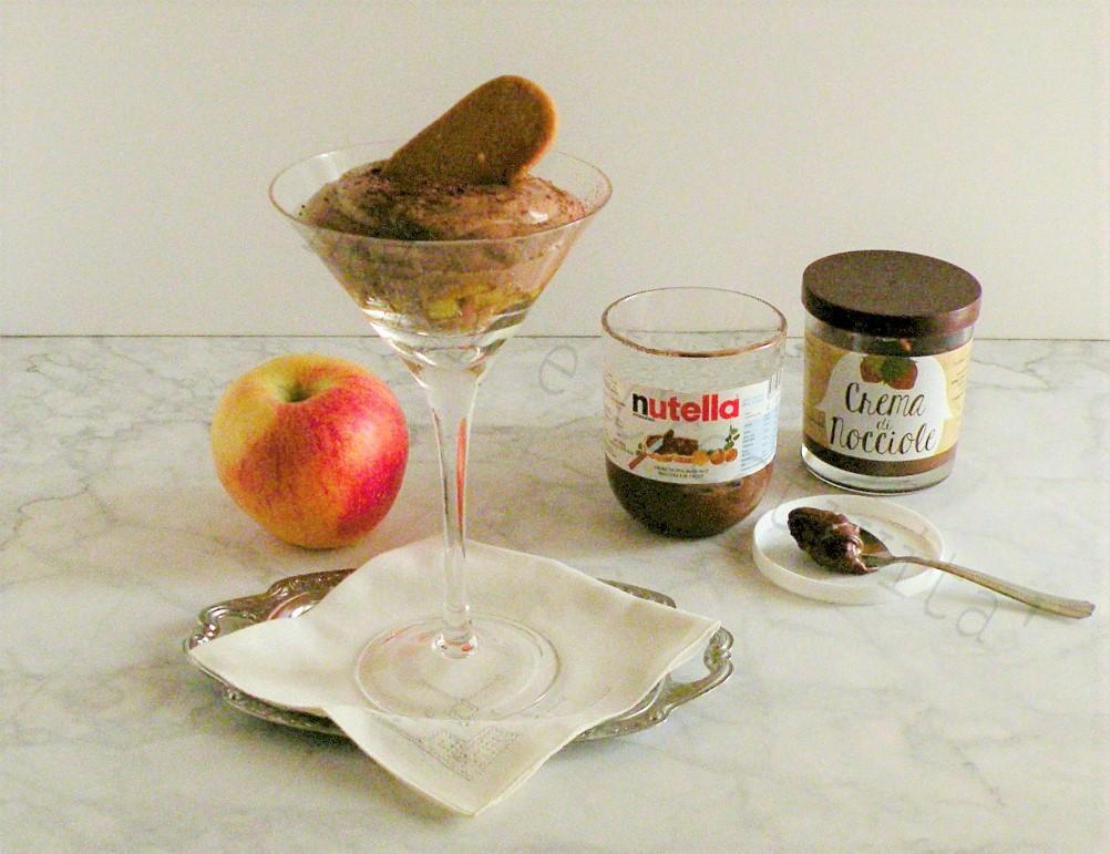 dolce con nutella e mele