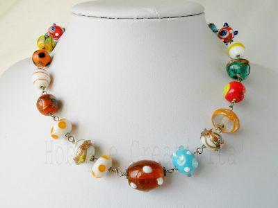 collana estiva con perle di Murano