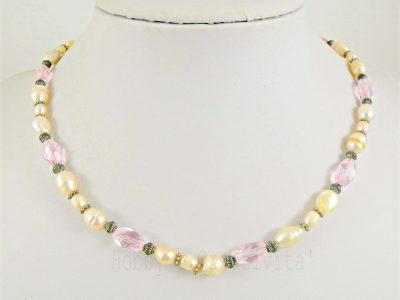 girocollo con perle e cristalli
