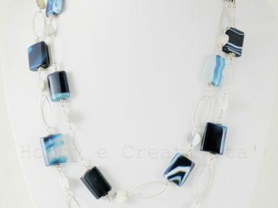 collana in agata blu