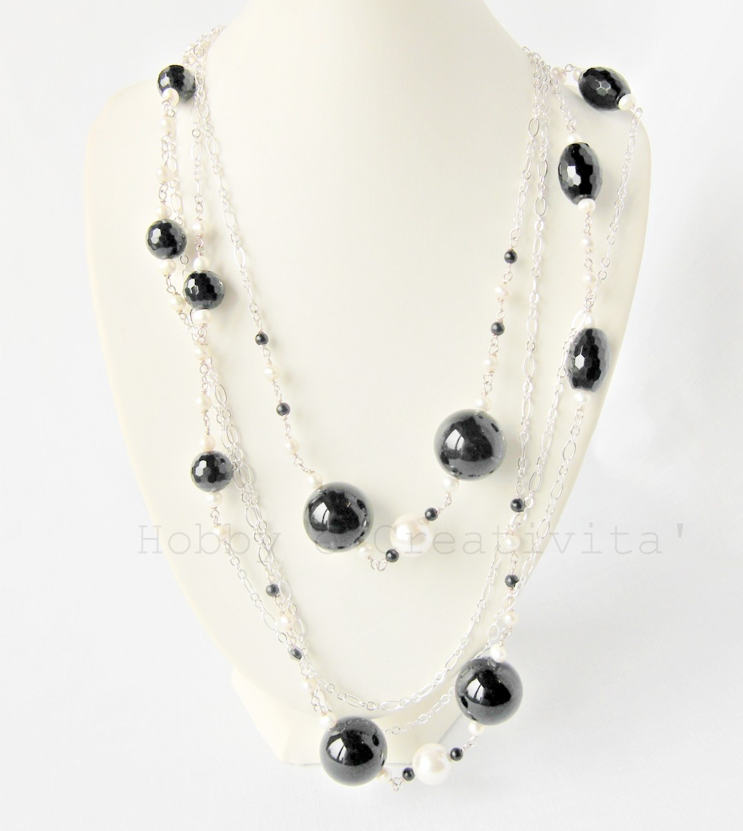 collana in onice e perle 1