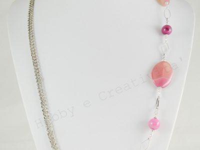 collana con agata rosa