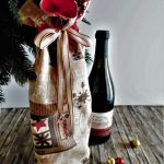 sacchetto porta bottiglie di natale