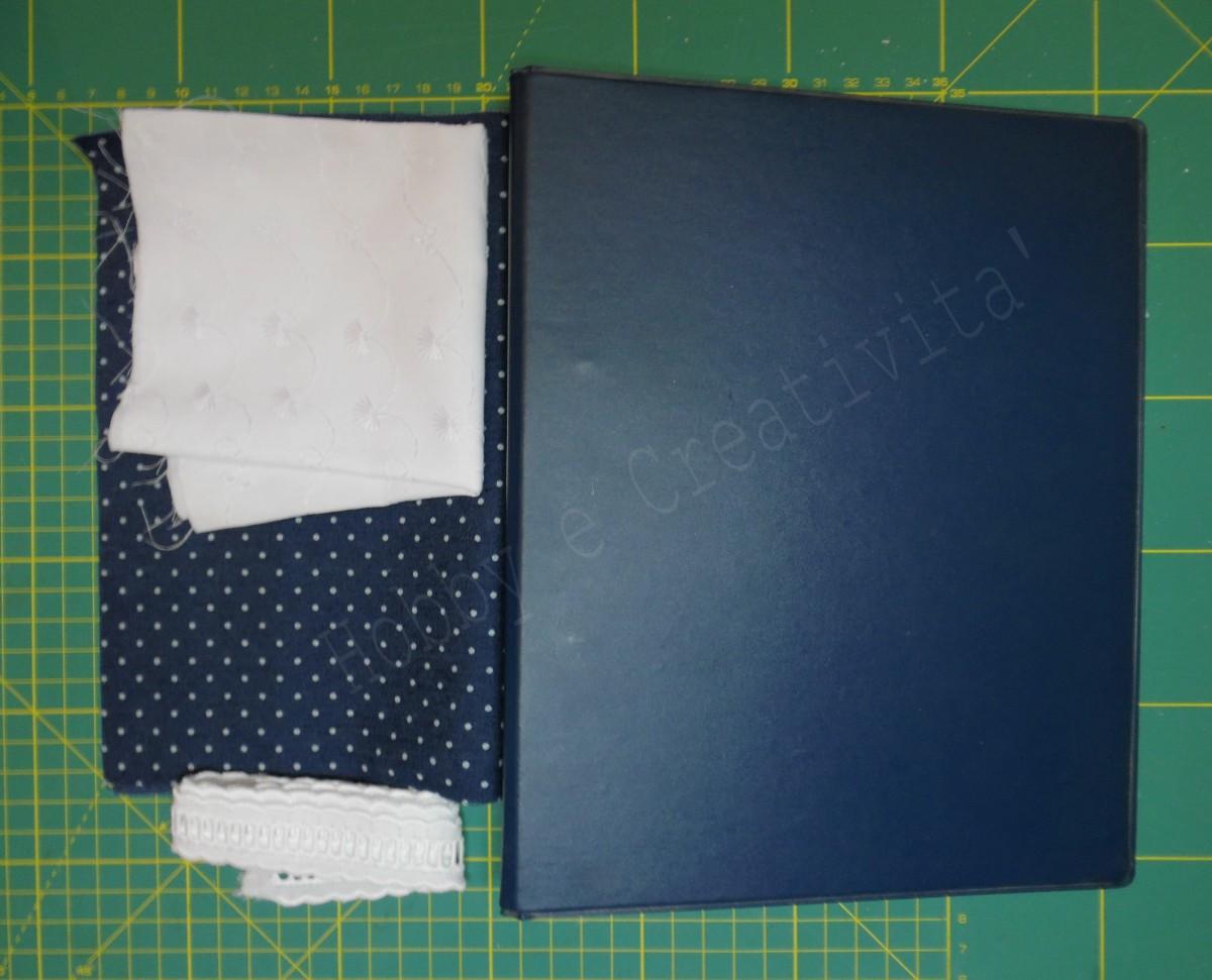 copri quaderno in jeans materiale