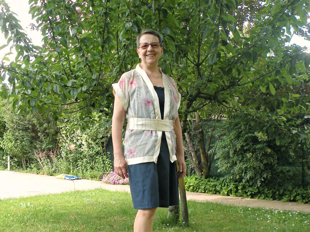 giacchino a kimono con cintura