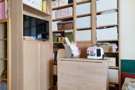 organizzare la stanza del cucito