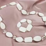agata bianca e cristallo di rocca